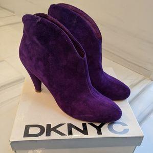 Purple suede DKNY booties